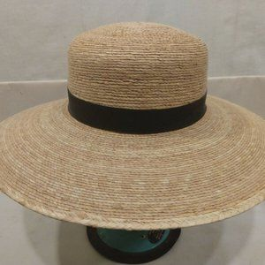 Women's Tula Hat Black Ribbon Palm Hat Made In Mex